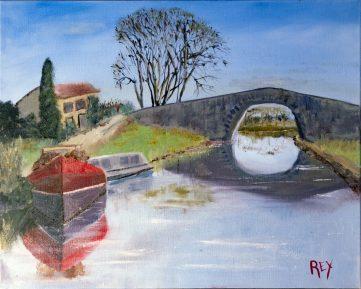 Morning Scene on the Canal du Midi