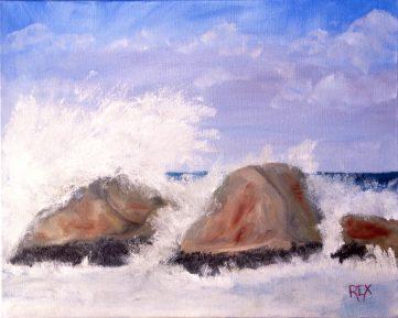 Waves Crashing Over Rocks, Apollo Bay